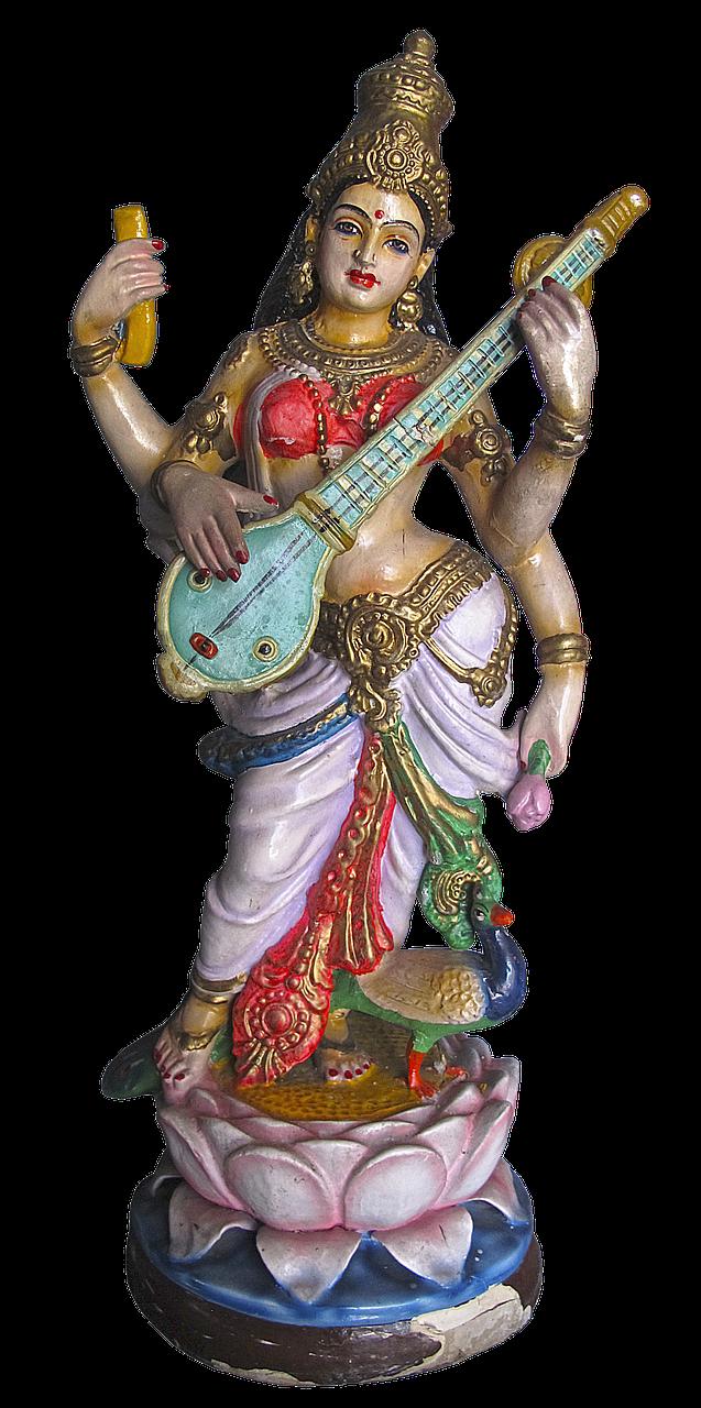 figure, statue, saraswati
