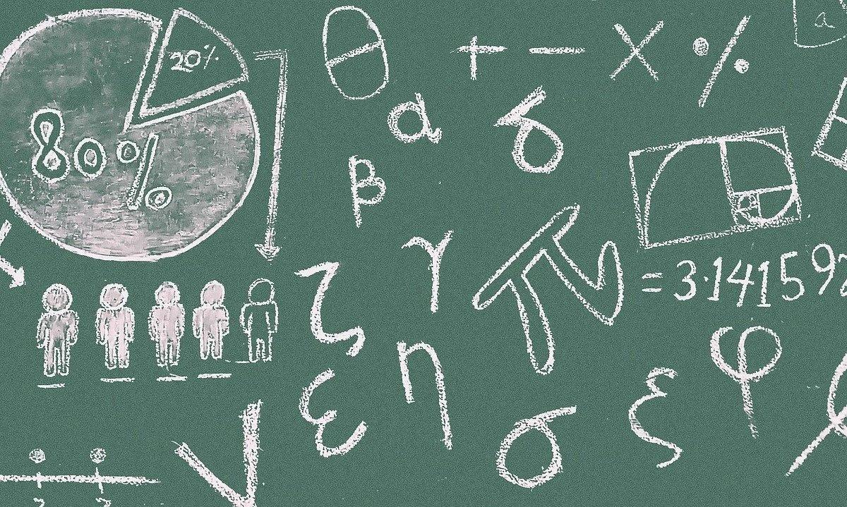 math, symbols, blackboard