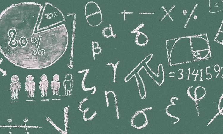 math, symbols, blackboard