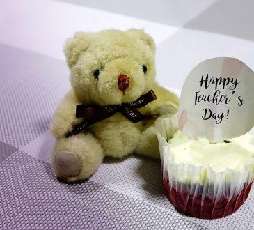 teacher's day, cupcake, bear