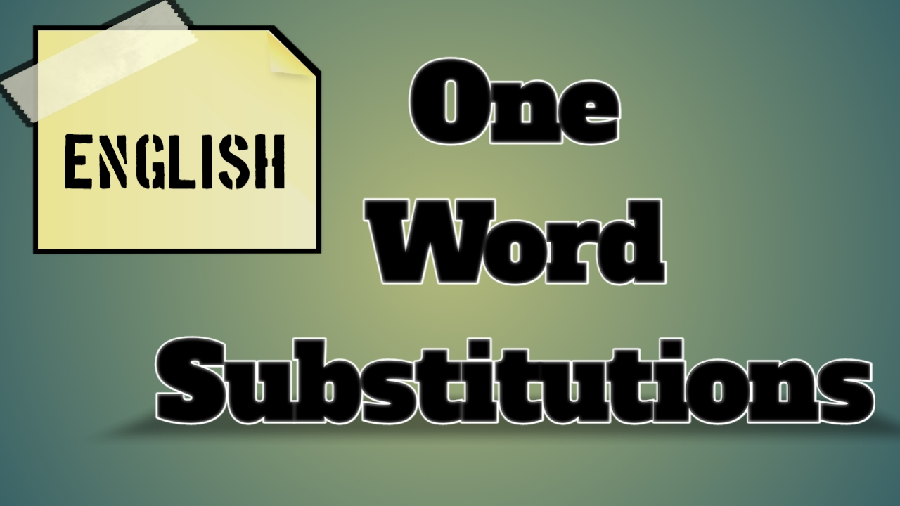 One Word Substitutions